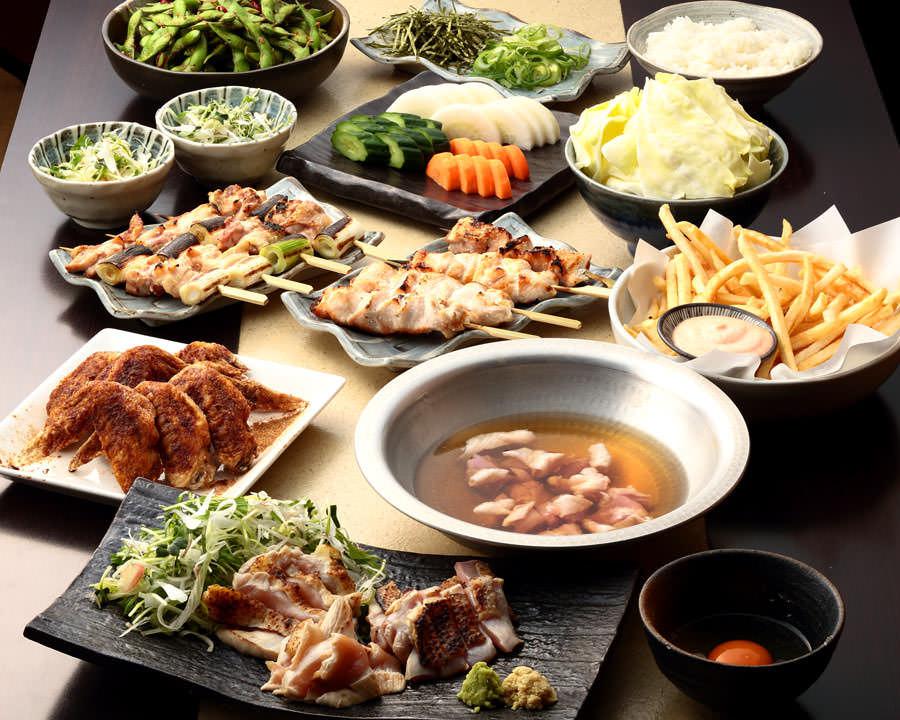 とりいちず 駒込東口駅前店の鶏料理を満喫できる〈食べ放題×飲み放題コース〉